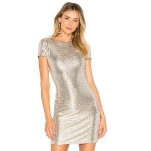 Alice+ Olivia Silver Foil Delora Midi Dress Sz6